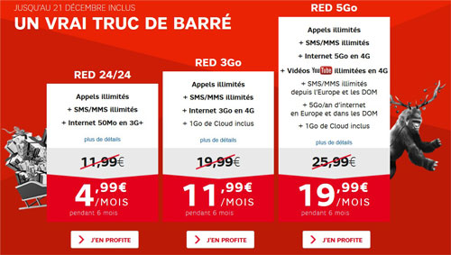 baisse de prix chez red sfr pour no l 4g lte. Black Bedroom Furniture Sets. Home Design Ideas